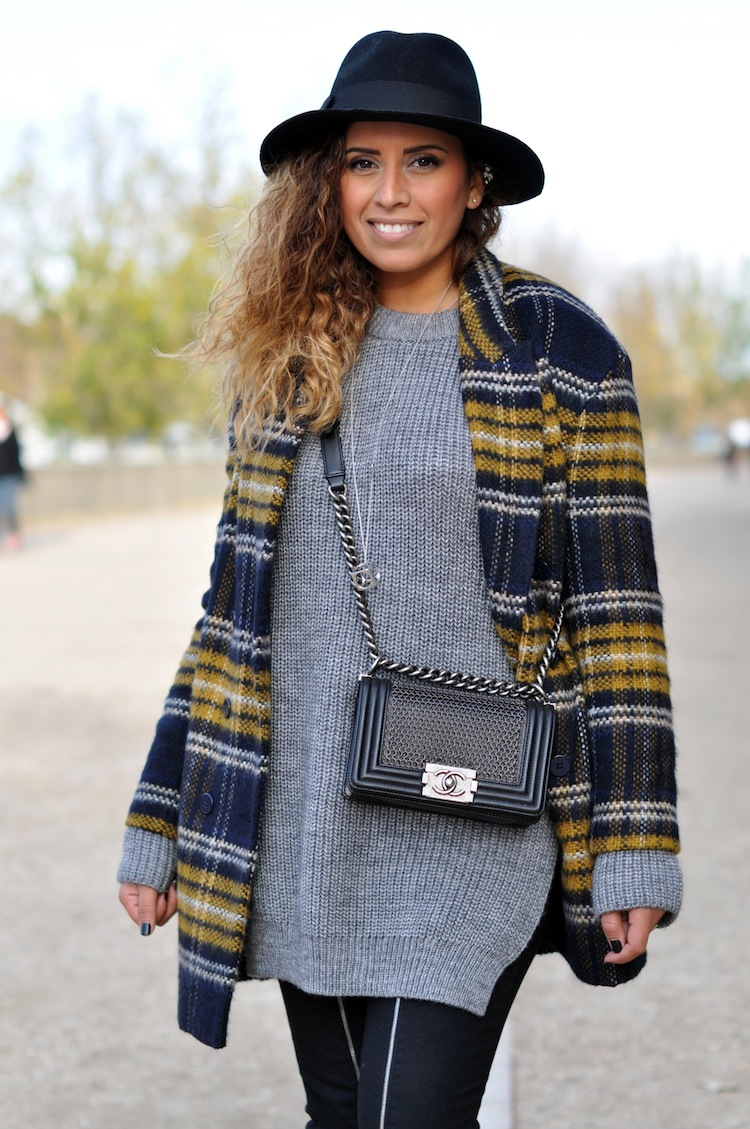 Le plaid coat | LovaLinda x Zara x JBrand x Chanel x Morgan