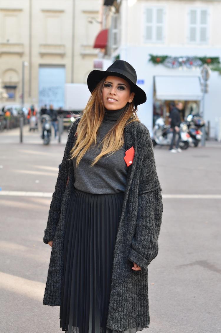 Les 5 nuances de gris | LovaLinda x Zara x Sandro x Proenza Schouler PS11 Bag x Morgan Fedora x Asos Skirt