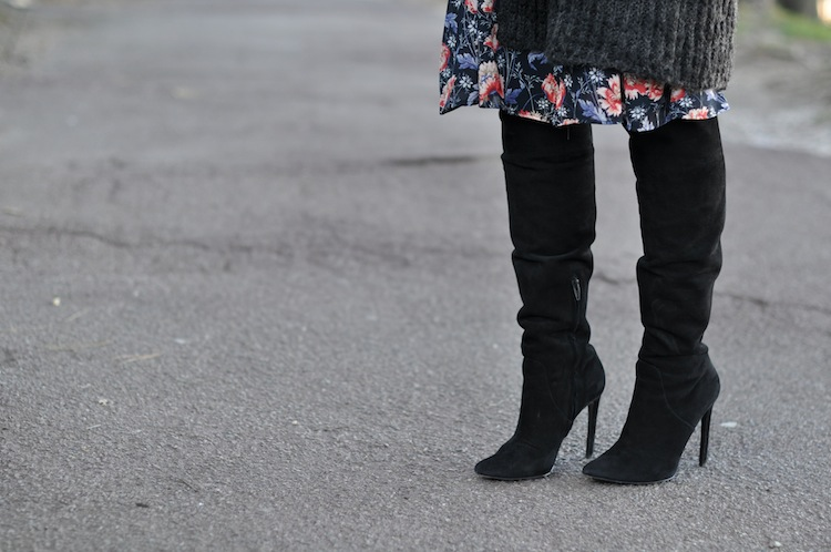 L'hiver en fleur | LovaLinda x Alexander Wang Over The Knee Boots