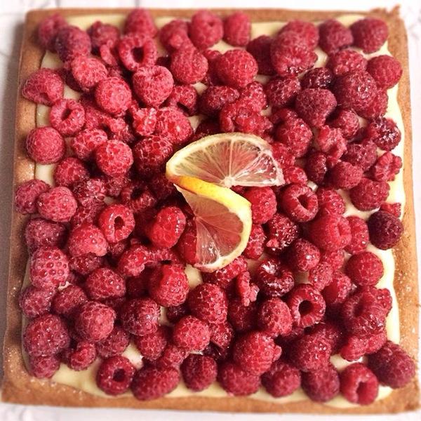 La tarte aux framboises et crème citronnée | LovaLinda x Julia Vale Marchier