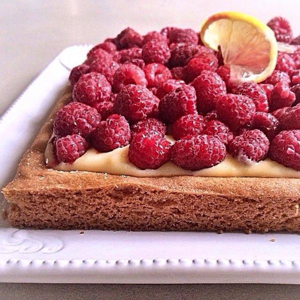 La tarte aux framboises et crème citronnée | LovaLinda