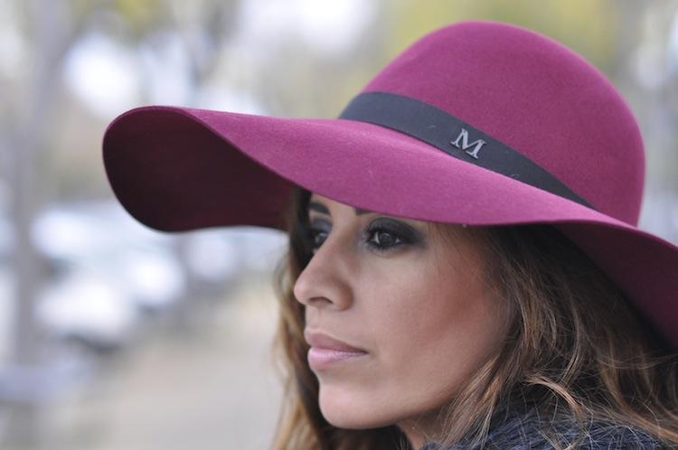 Le bourge décalé | LovaLinda x Maison Michel blanche rabbit-felt wide-brimmed hat