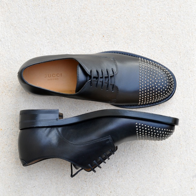 Les Margarett de Gucci | LovaLinda x Margarett Studded Leather Brogues