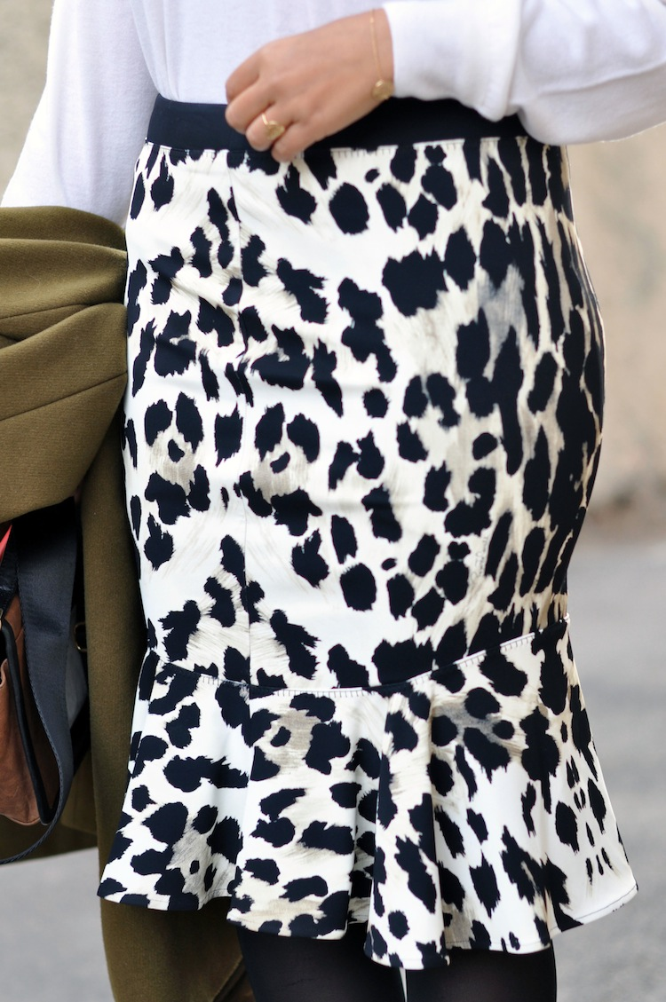 Ladylike leopard | LovaLinda x Animal-print fluted stretch-jersey skirt ROBERTO CAVALLI