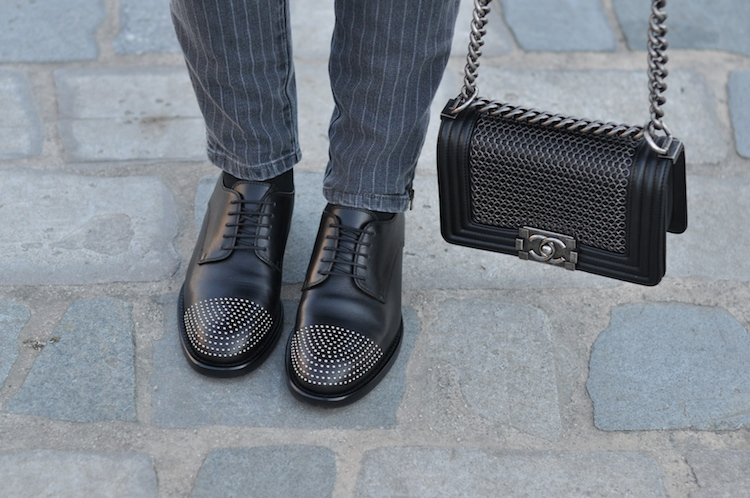 L'atout gris | LovaLinda x Blog Mode Look Marseille x Gucci Brogues x Chanel Boy