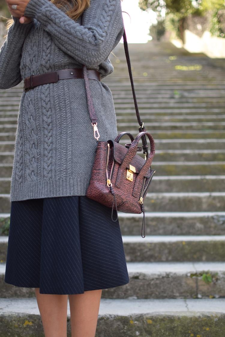 L'hiver au printemps | Lovalinda x Blog Mode Lookbook Marseille x Robe Pul Cos x Ceinture Vintage x Jupe Zara x Sac Pashli 3.1 Phillip Lim