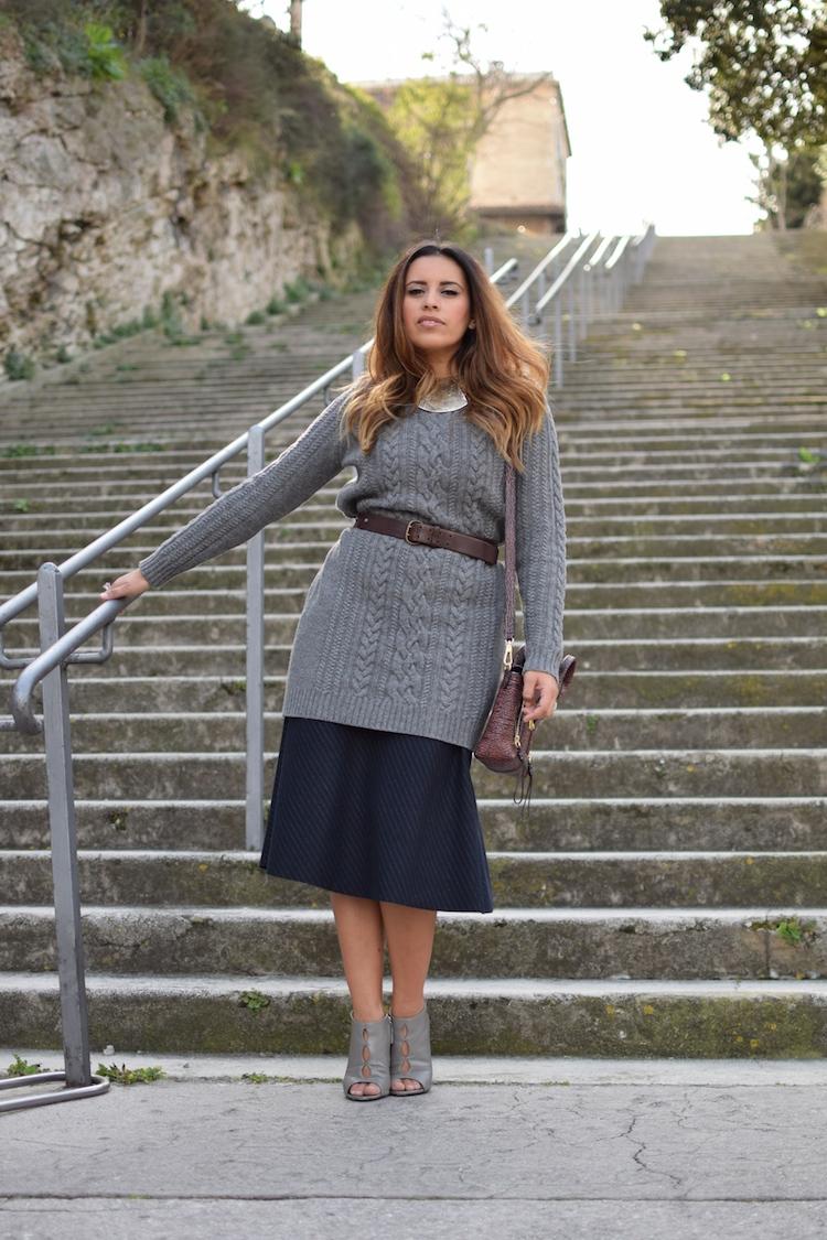 L'hiver au printemps | Lovalinda x Blog Mode Lookbook Marseille x Robe Pul Cos x Ceinture Vintage x Jupe Zara x Sandales Giuseppe Zanotti x Sac Pashli 3.1 Phillip Lim x Collier Mango
