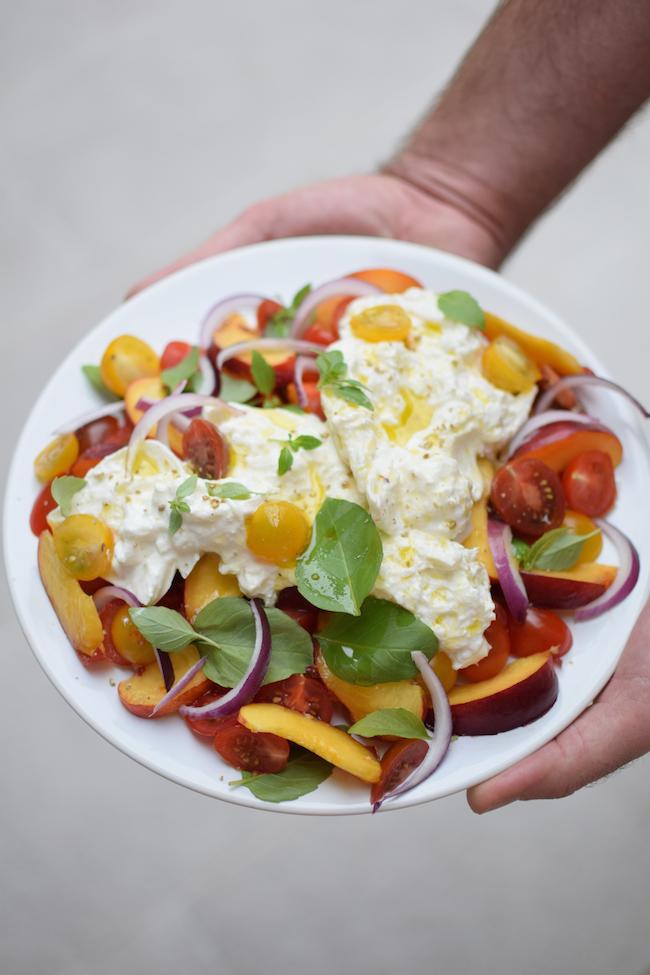 La salade de pêches, tomates et mozzarella | LovaLinda x Blog Cuisine x Recette Ramadan 2014