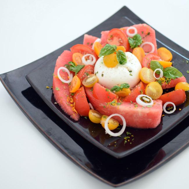 La salade de pastèque, tomates, burrata et gramalota | LovaLinda x Blog Cuisine Marseille x Ramadan 2014 Recette