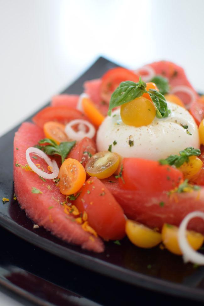 La salade de pastèque, tomates et burrata | LovaLinda x Blog Cuisine Marseille x Ramadan 2014 Recette