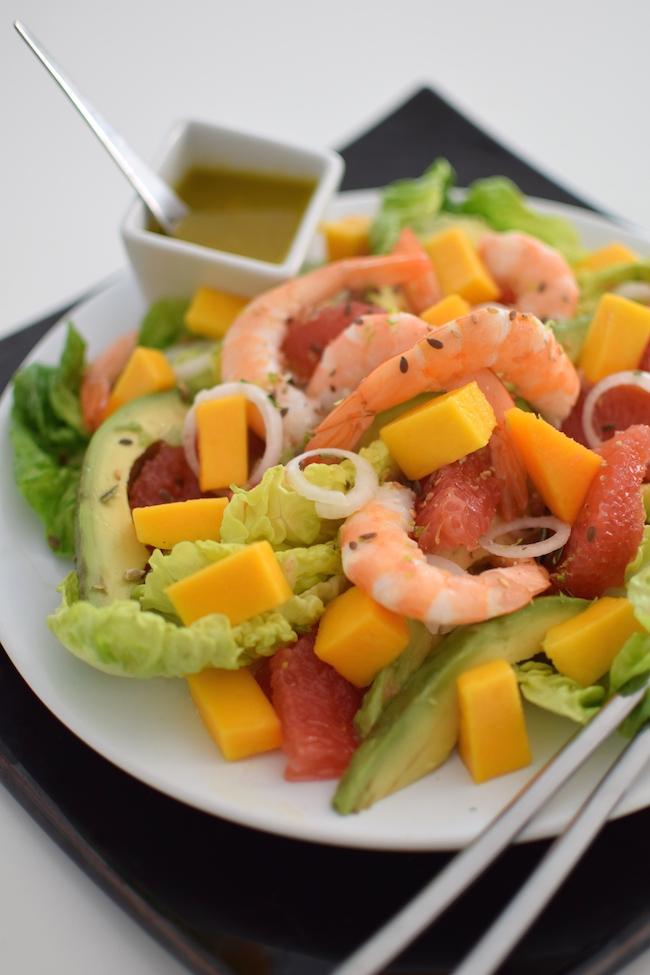 La salade fruitée aux crevettes| LovaLinda