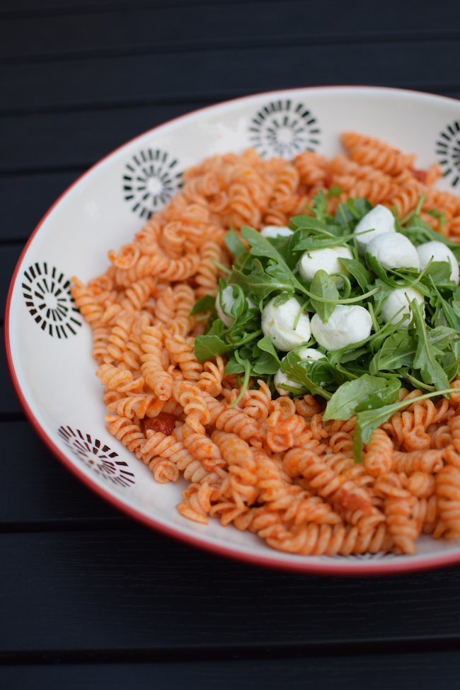 La salade pâtes mozza |LovaLinda x Tortelleni Tomates Roquette Mozzarella