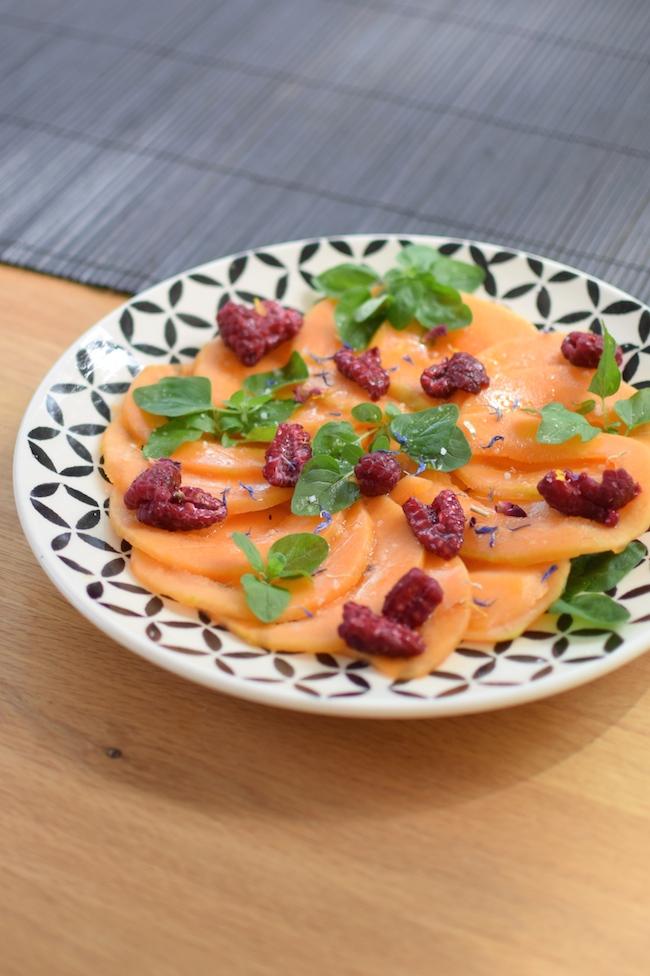 Le carpaccio de melon, oseille et framboises | LovaLinda x Blog Cuisine Marseille x Recette Ramadan