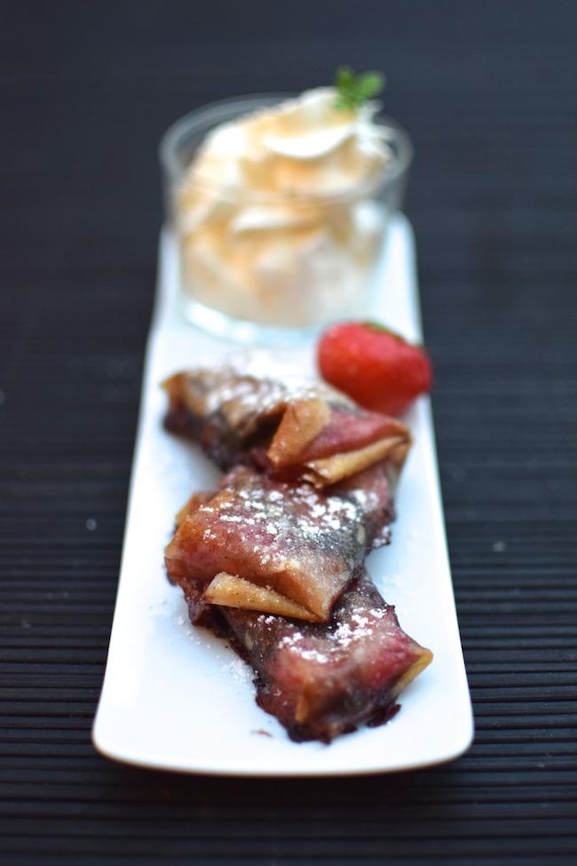 Les bricks de fraises et chocolat | LovaLinda x Blog Cuisine Marseille x Recette Ramadan 2014