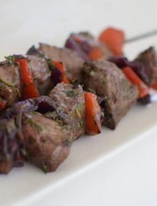 Les brochettes de bœuf au soja