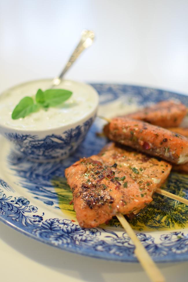 Les brochettes de saumon marinées au curry | LovaLinda x Blog Cuisine Marseille x Recette Ramadan 2014