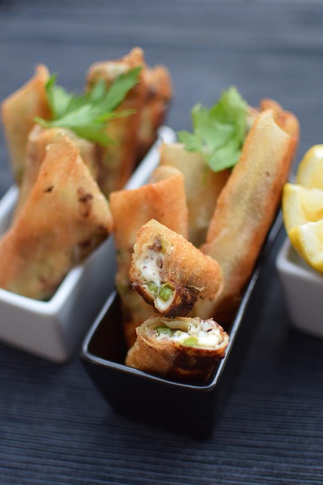 Les cigares de viande hachée, petits pois et fromage | LovaLinda Blog Cuisine x Recettes Ramadan 2014
