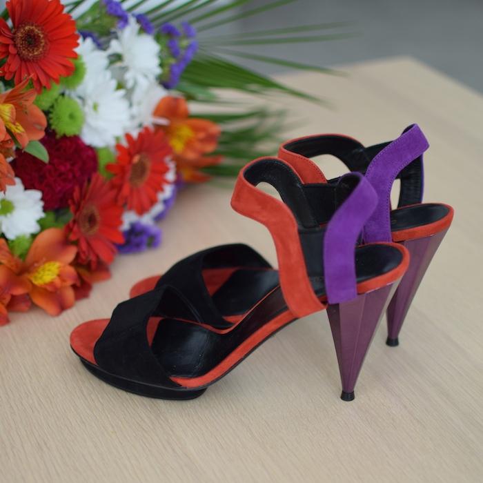 Liberty Colour-Block Sandals | Lovalinda x Gucci x Blog Mode Shopping ShoesAddict
