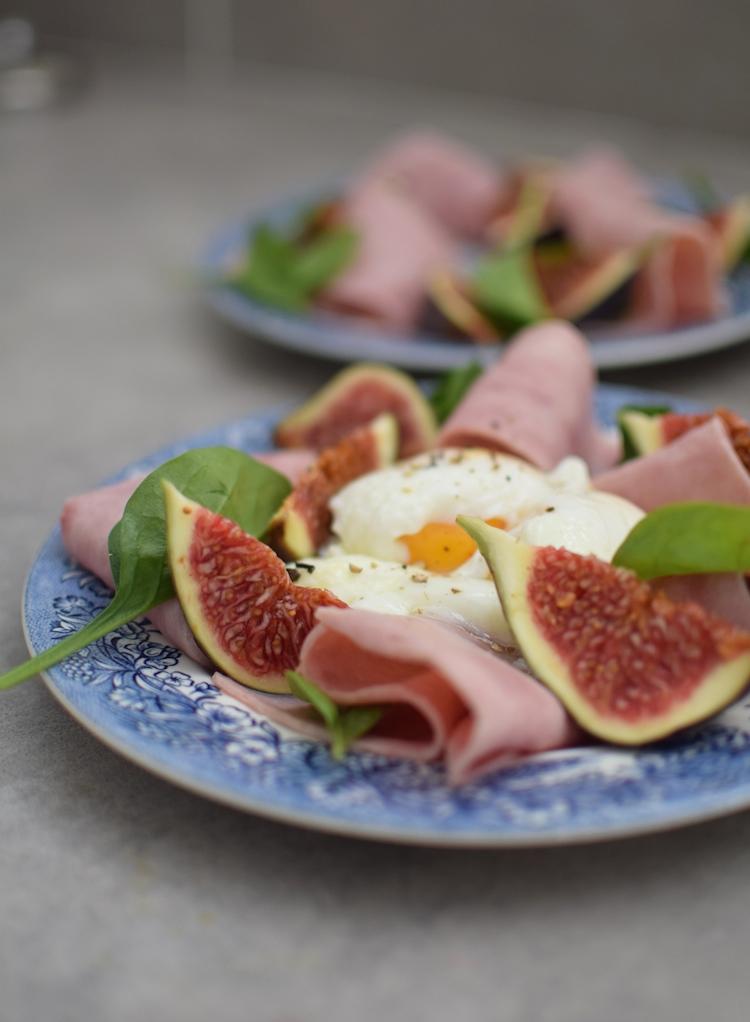 L'œuf poché aux figues et jambon | LovaLinda | Blog Cuisine Brunch Marseille