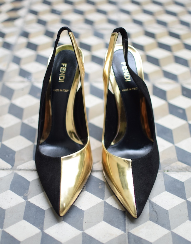 La bipolaire de Fendi | LovaLinda x Fendi x Blog Mode Chaussures de Luxe x Bi-colour leather and suede slingbacks