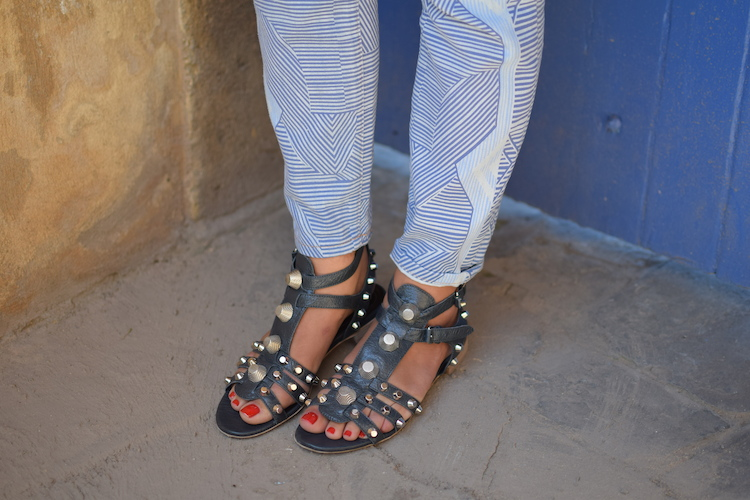 La kitty de jour | LovaLinda | Blog Mode Marseille x Current Elliott Mary Katrantzou x Balenciaga Studded Sandals