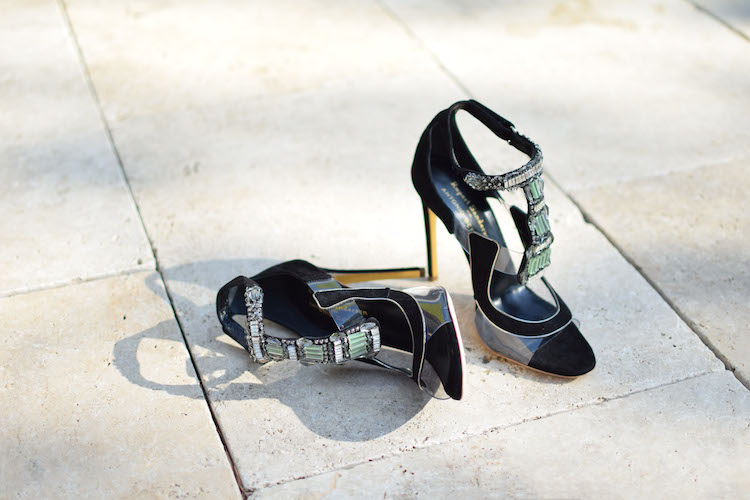 Les Apex de Rupert Sanderson et Antonio Berardi | LovaLinda x Blog Mode Shopping x Apex suede and PVC sandals