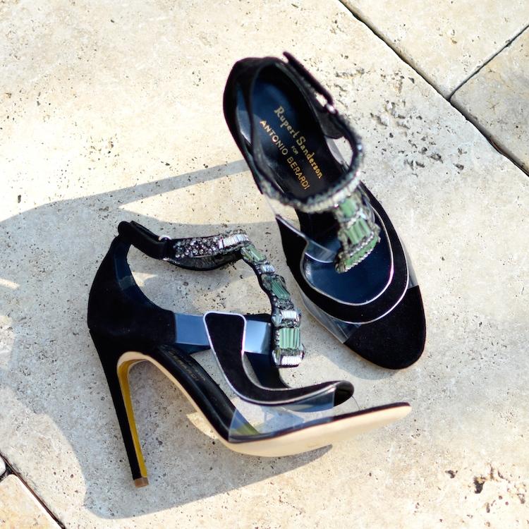 Les Apex de Rupert Sanderson et Antonio Berardi | LovaLinda x Blog Mode Shopping x Sandales avec cristaux Swaroski