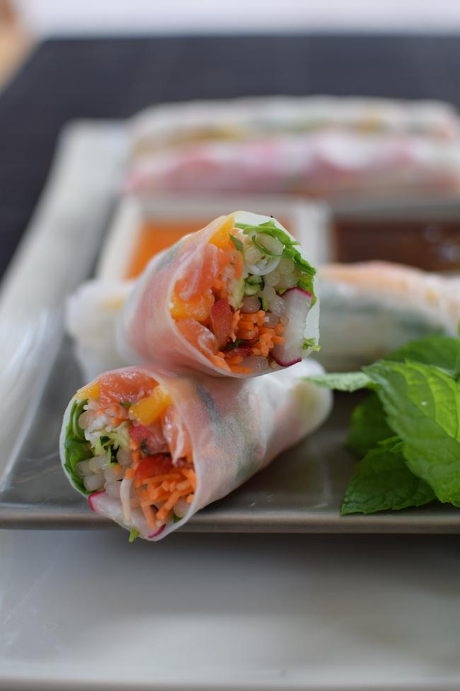 Les rouleaux de printemps saumon et mangue | LovaLinda Blog Cuisine Photo Marseille
