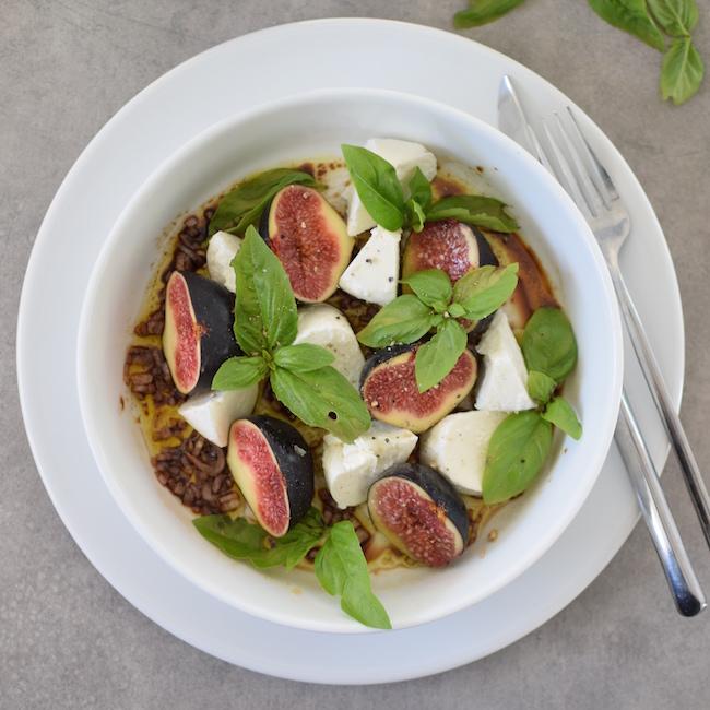 La salade de figues et mozzarella au basilic | LovaLinda |Blog Photo Cuisine Recettes Marseille