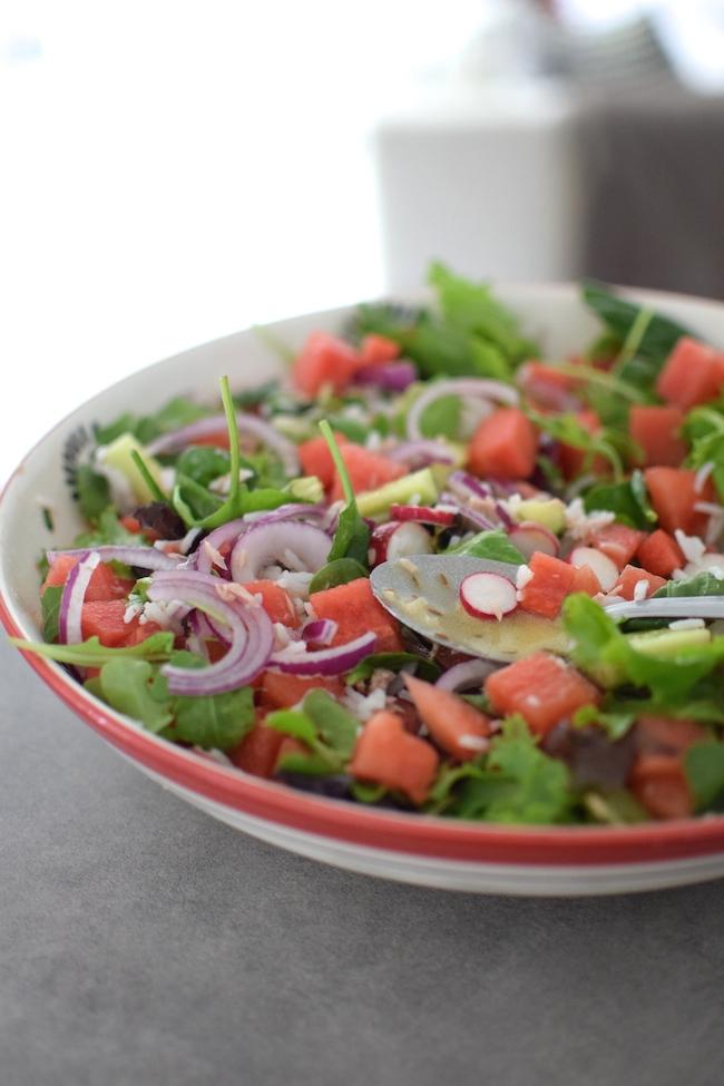 La salade de riz, thon et pastèque | LovaLinda | Blog Photo Cuisine Marseille Recettes