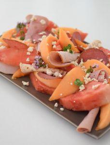 La salade melon charcuterie