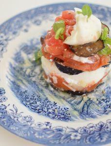 La burrata tomates-aubergine