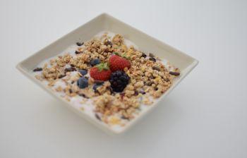 Le granola et sa mousse de lait