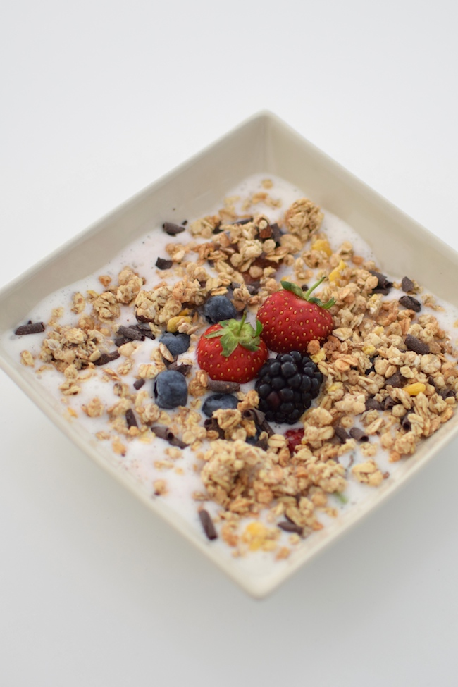 Le granola et sa mousse de lait | LovaLinda | Blog Cuisine Photo Marseille