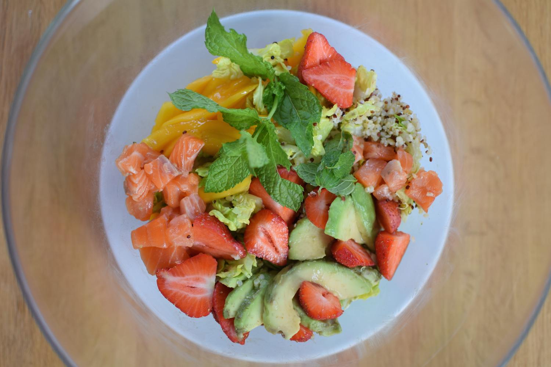 La salade de quinoa saumon complète | Blog Cuisine Recette Photos Marseille