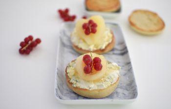 Les muffins anglais au bleu et poire