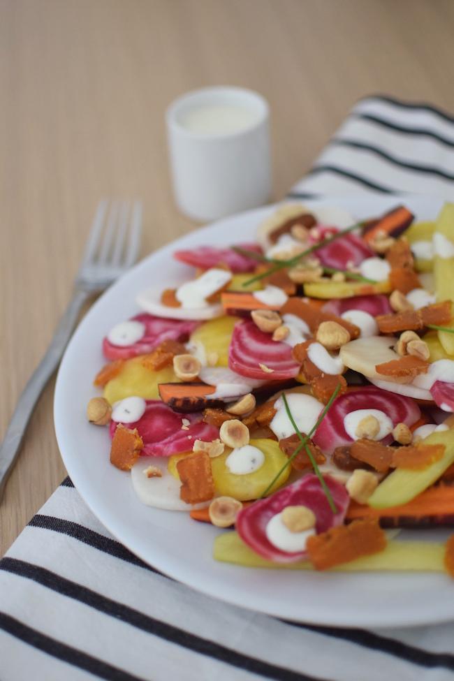 Le carpaccio de légumes d'hiver à la poutargue | LovaLinda | Blog Photo Cuisine | Entrées Fêtes
