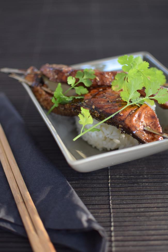 Le saumon laqué sésame coriandre | LovaLinda | Blog Photo Cuisine Plat