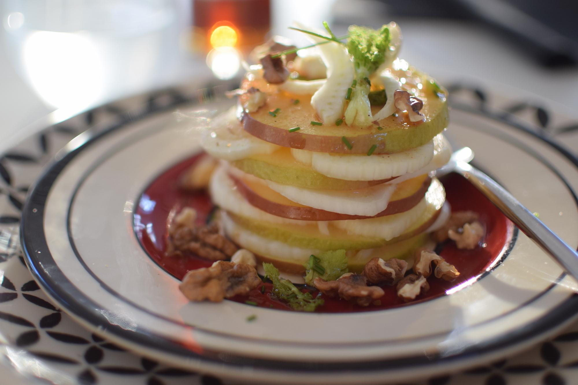 Le millefeuille de pommes et fenouil | LovaLinda | Blog Cuisine Photo