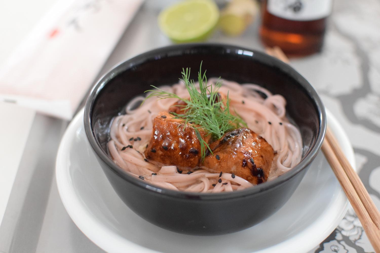 Les nouilles de cerisiers au saumon  | LovaLinda | Blog Cuisine Photo
