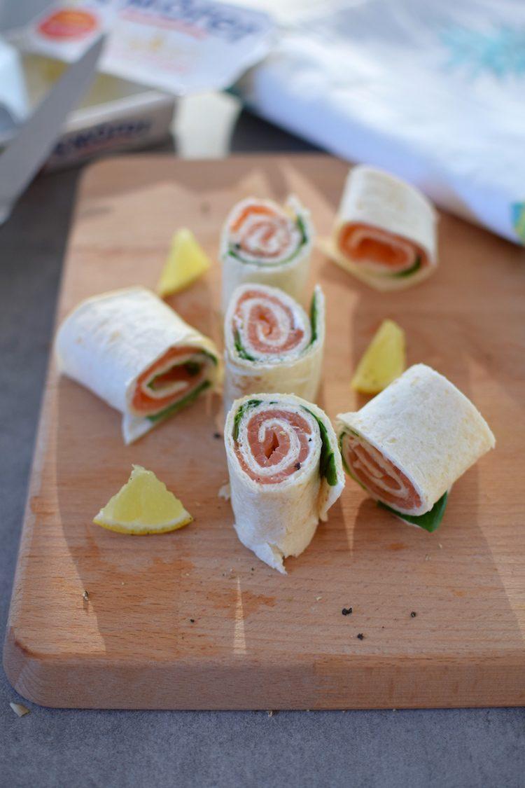 Les wraps saumon fumé et épinards | LovaLinda | Blog Cuisine Recettes | Apéritif | Tortilla Philadelphia