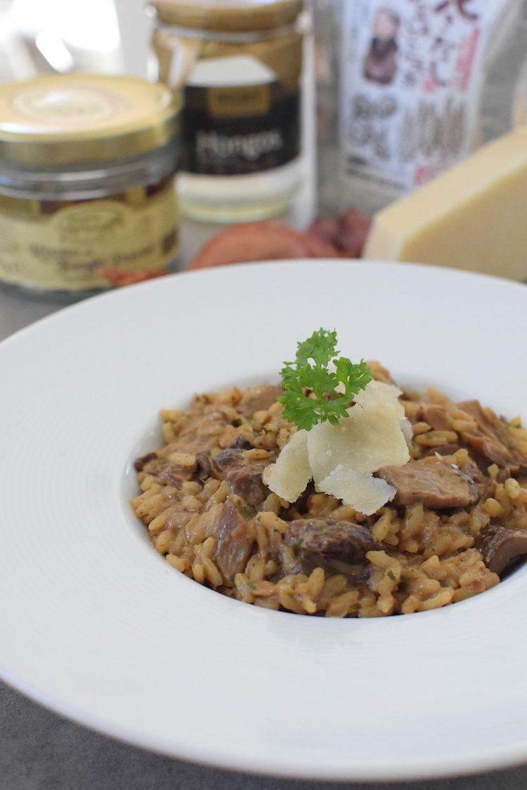 Le risotto aux champignons sans alcool (option vegan ...
